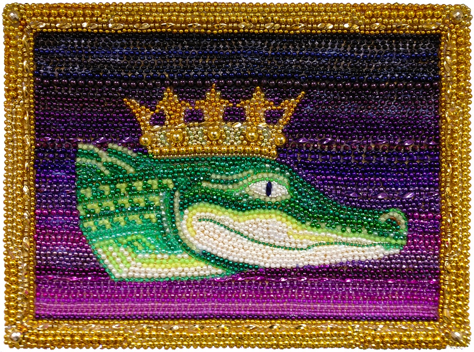 mardi gras alligator