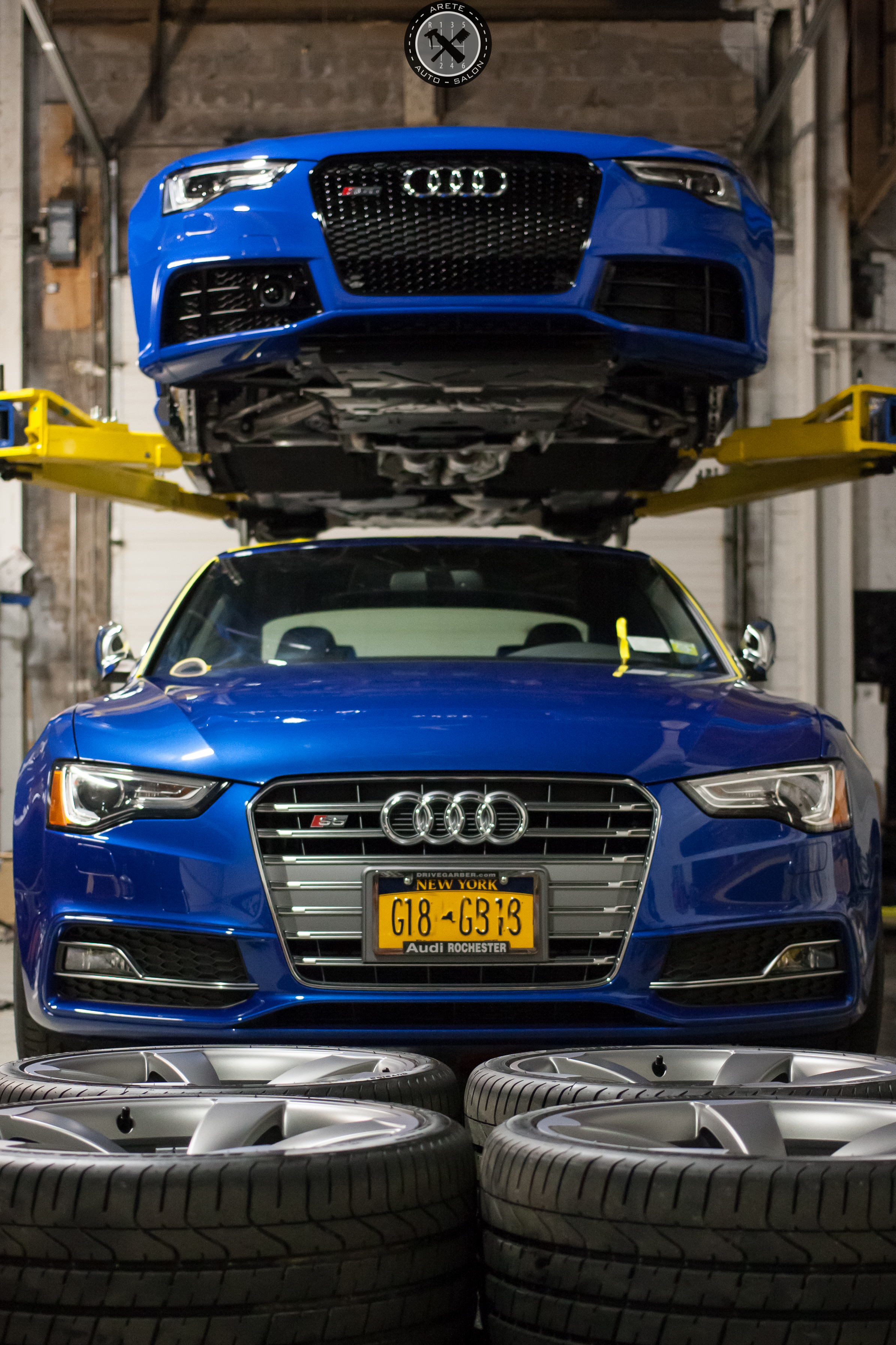 The S5 in the foreground was also in for Cquartz Finest and wheel/caliper coating. This great shot shows off the true beauty of both of these cars.