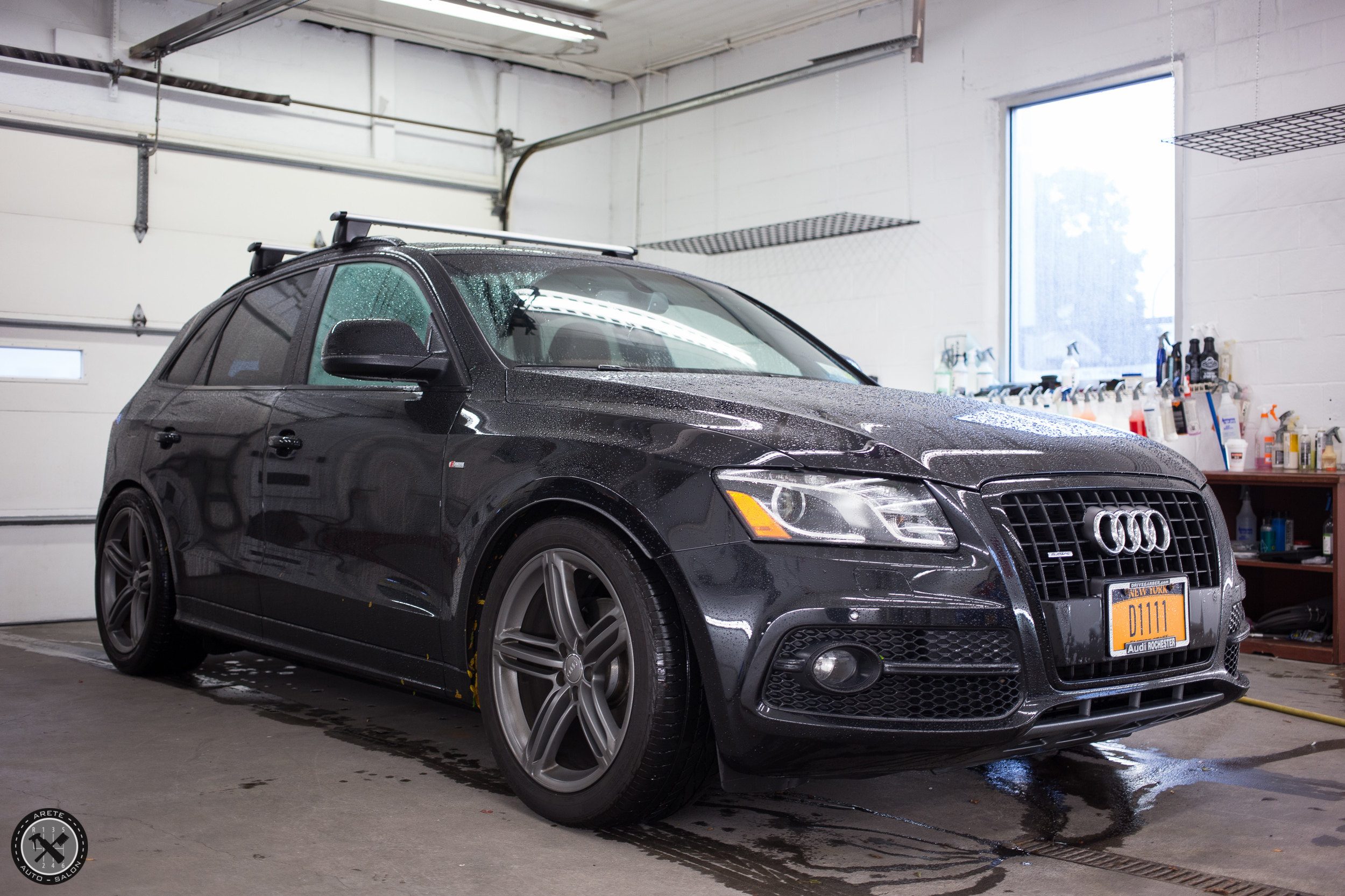 The vehicle came to us on a rainy day and the current protection was doing its job. After our decontamination service the paint will be completely bare,allowing us to view defects objectively as well as create an ideal environment for correction to occur.
