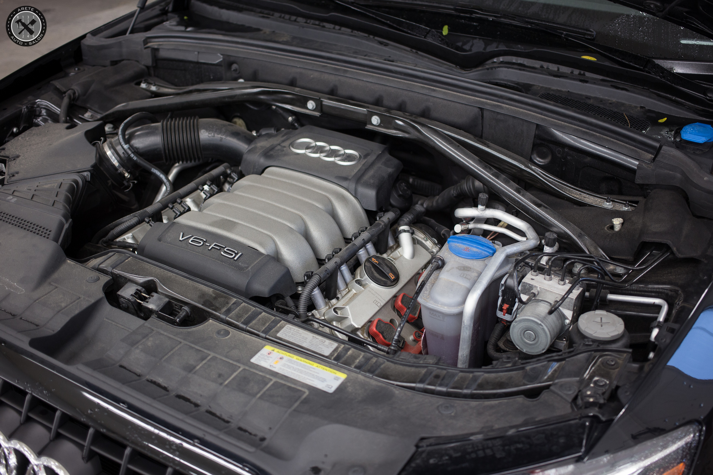 An engine bay service was performed during our initial wash.