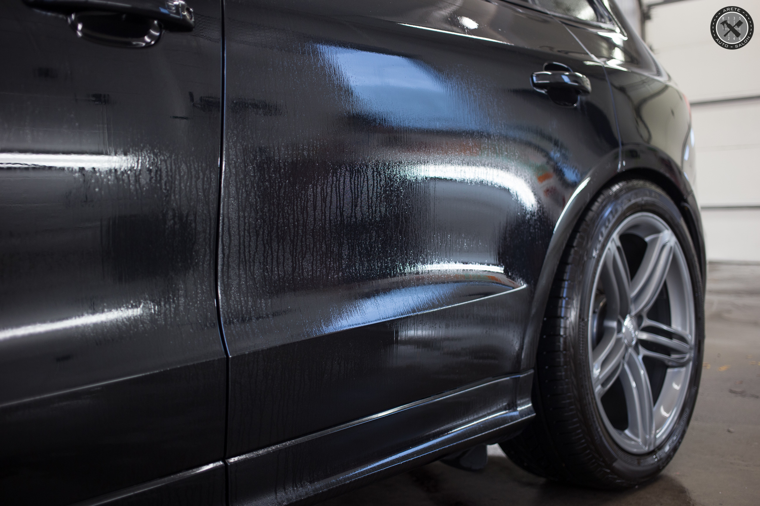 After our initial wash the vehicle was treated with an iron removing chemical to extract ferrous metals and loosen organic contamination.