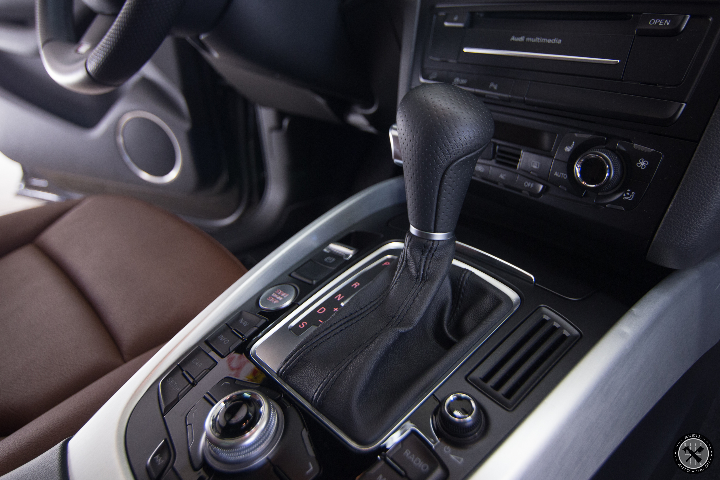 The shift knob and boot were also coated for lasting protection on heavy wear areas.