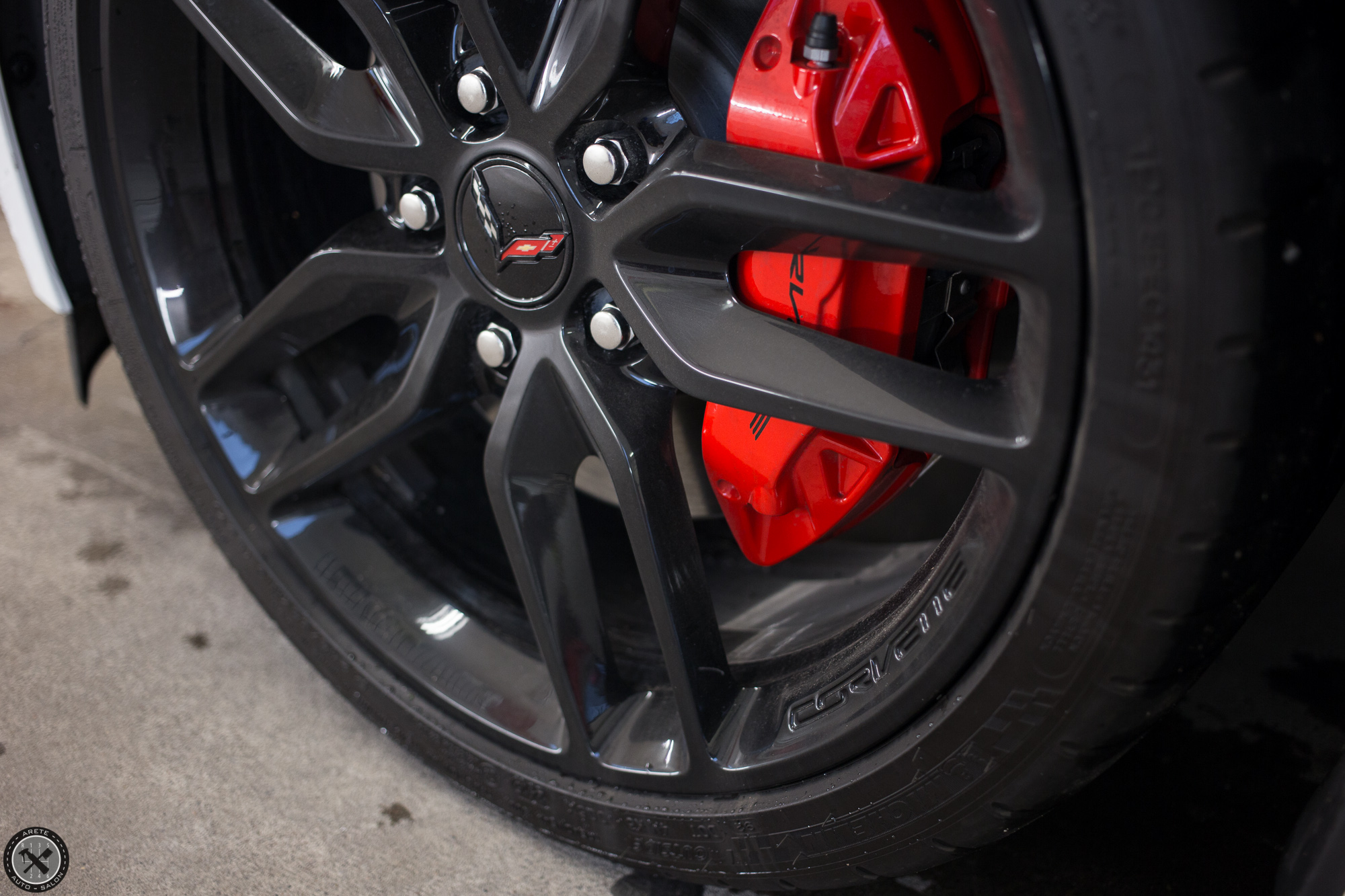 The big brakes on this 'Vette managed to kick out plenty of dust in the few short miles it had traveled.