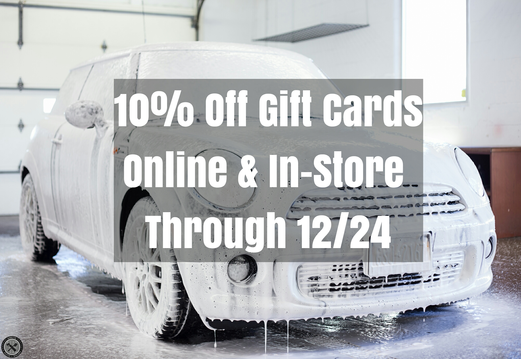 We will be closed 12/24 for Christmas eve but the sale will still be on online!