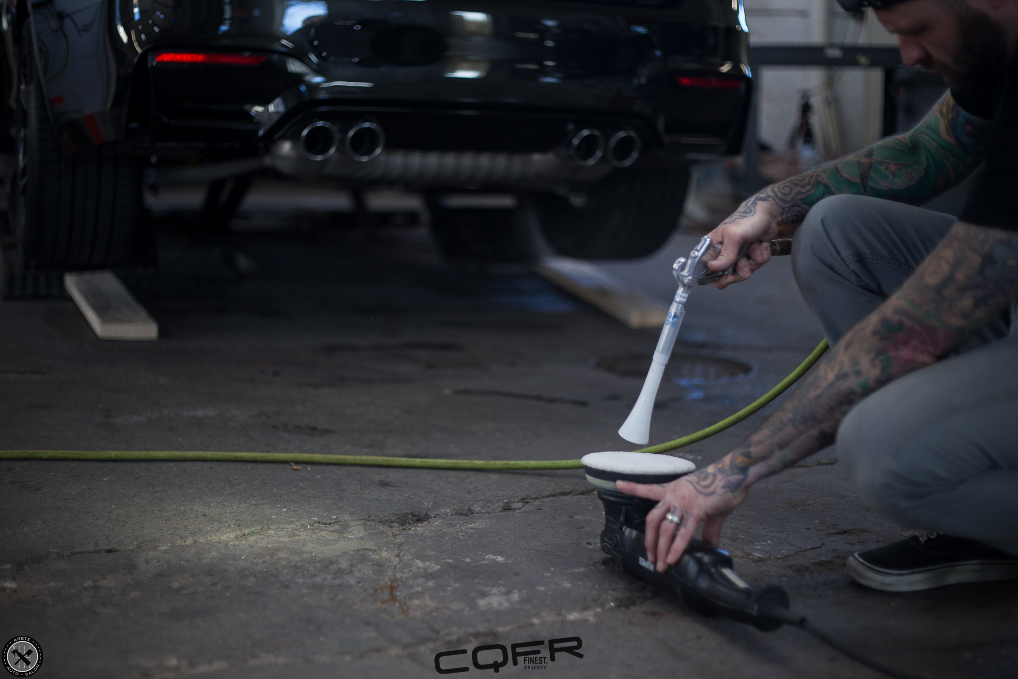 After the vehicle was decontaminated we refined the paint to perfection. With each and every Finest Reserve service we hone the paint surface to as close to perfect as possible prior to coating application.