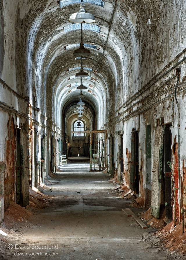 Eastern State Penitentiary, hospital wing corridor