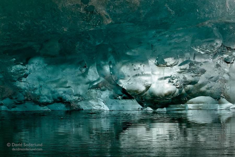Jokulsarlon, beneath the ice.