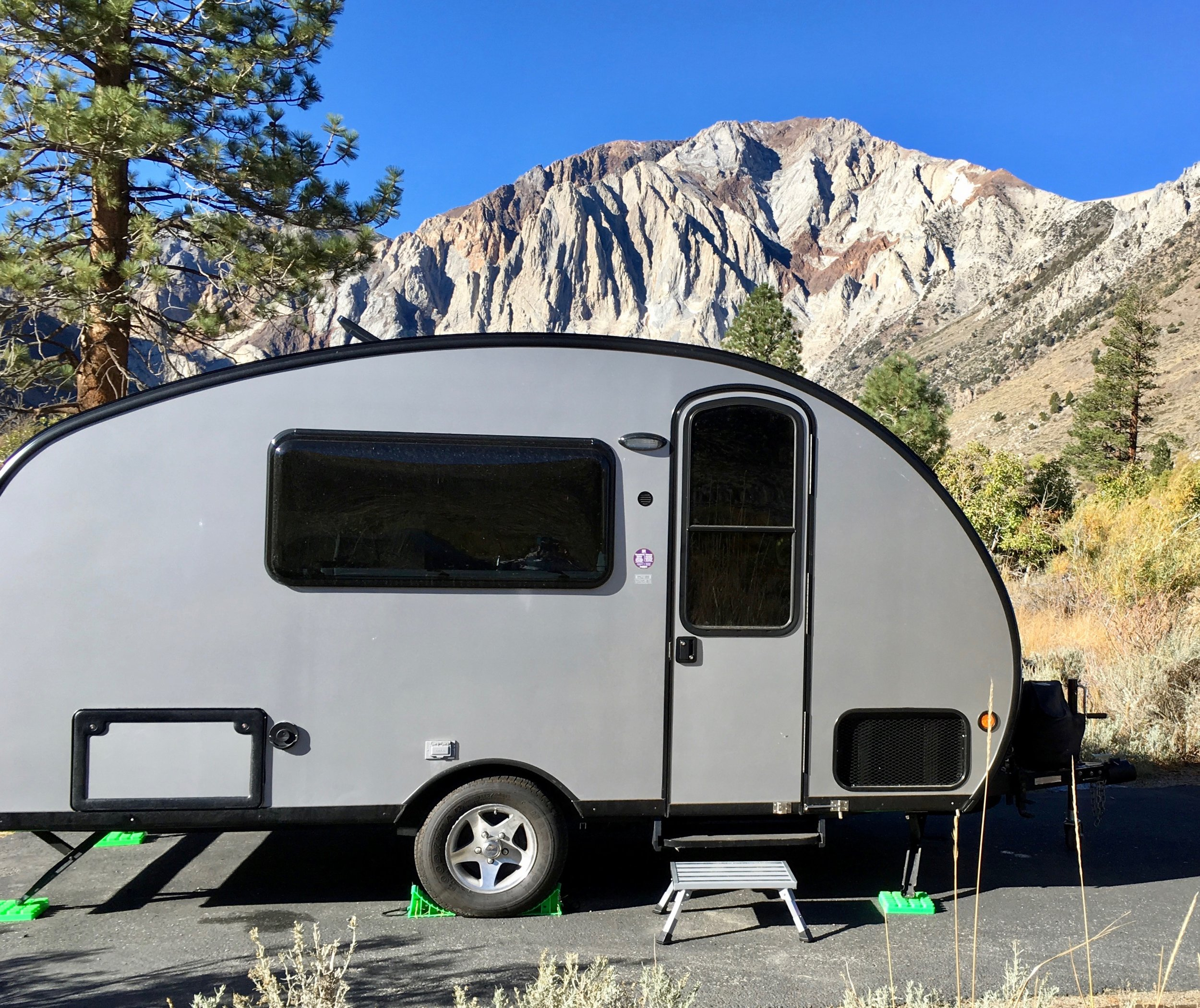 The Brave Little Toaster, our home base at Convict Lake.