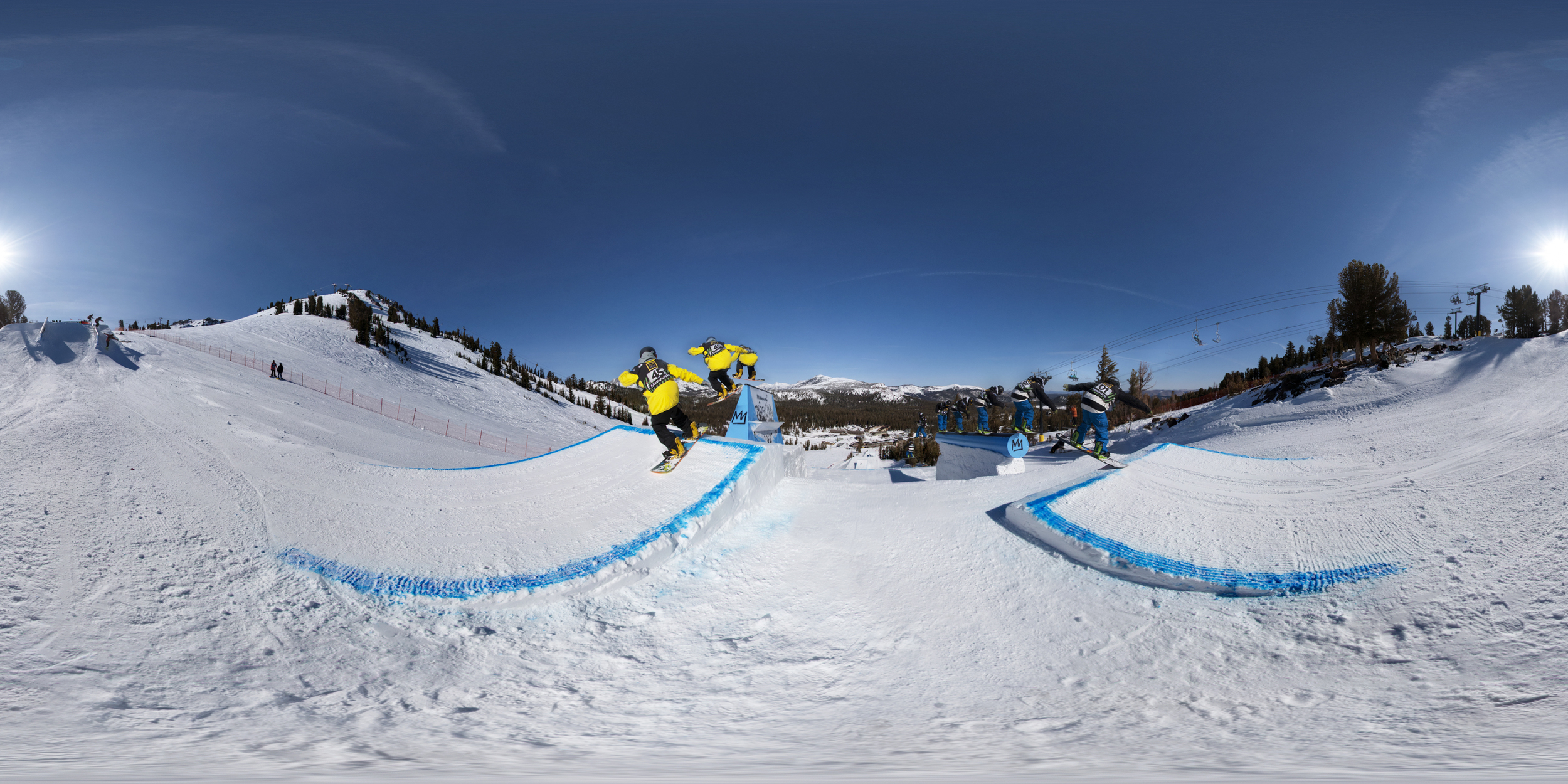Action Sequence 360º at U.S. Grand Prix Ski / Snowboard Competition