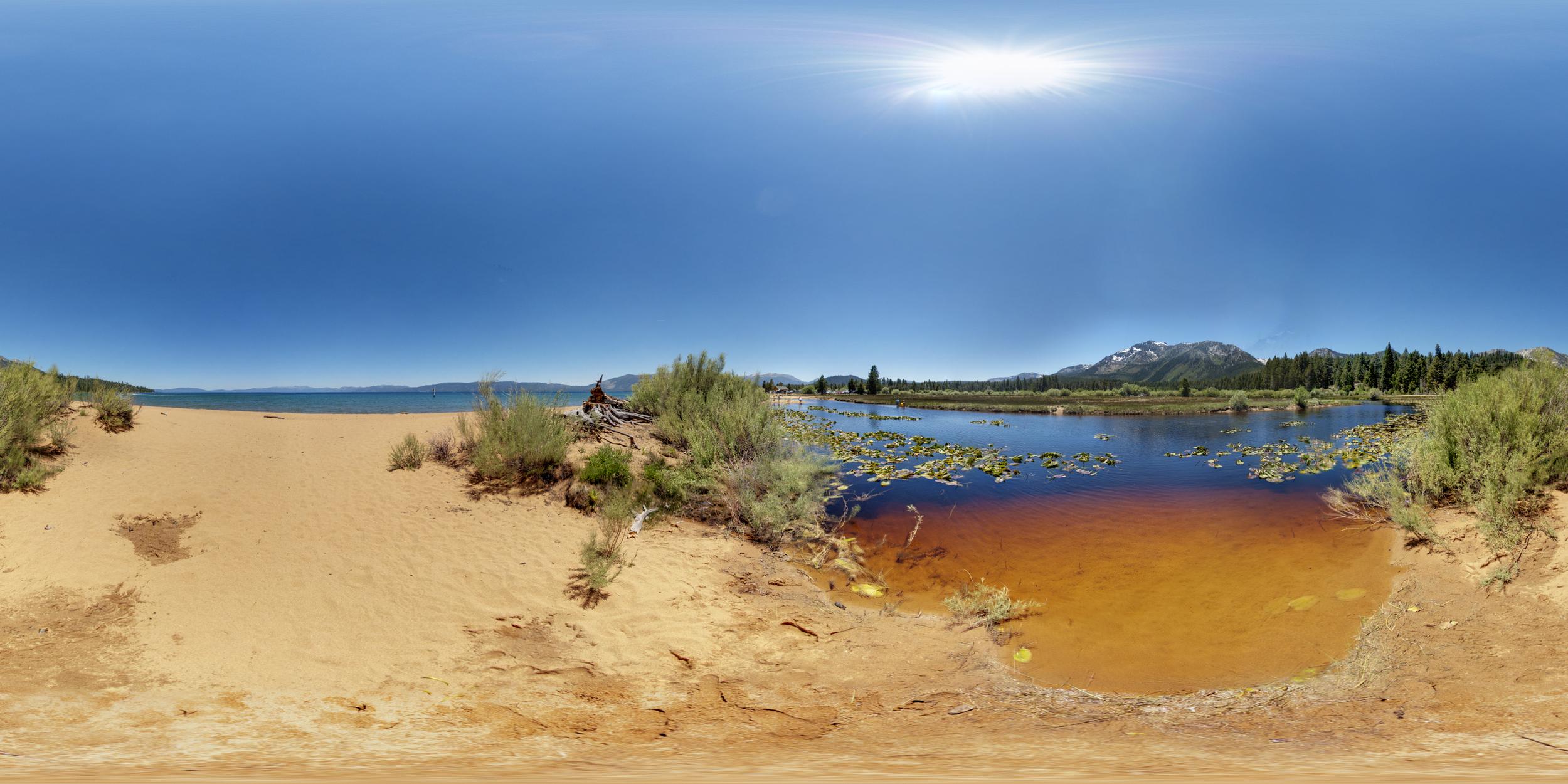360º Landscape; View of Baldwin Beach Lagoon & Lake Tahoe.