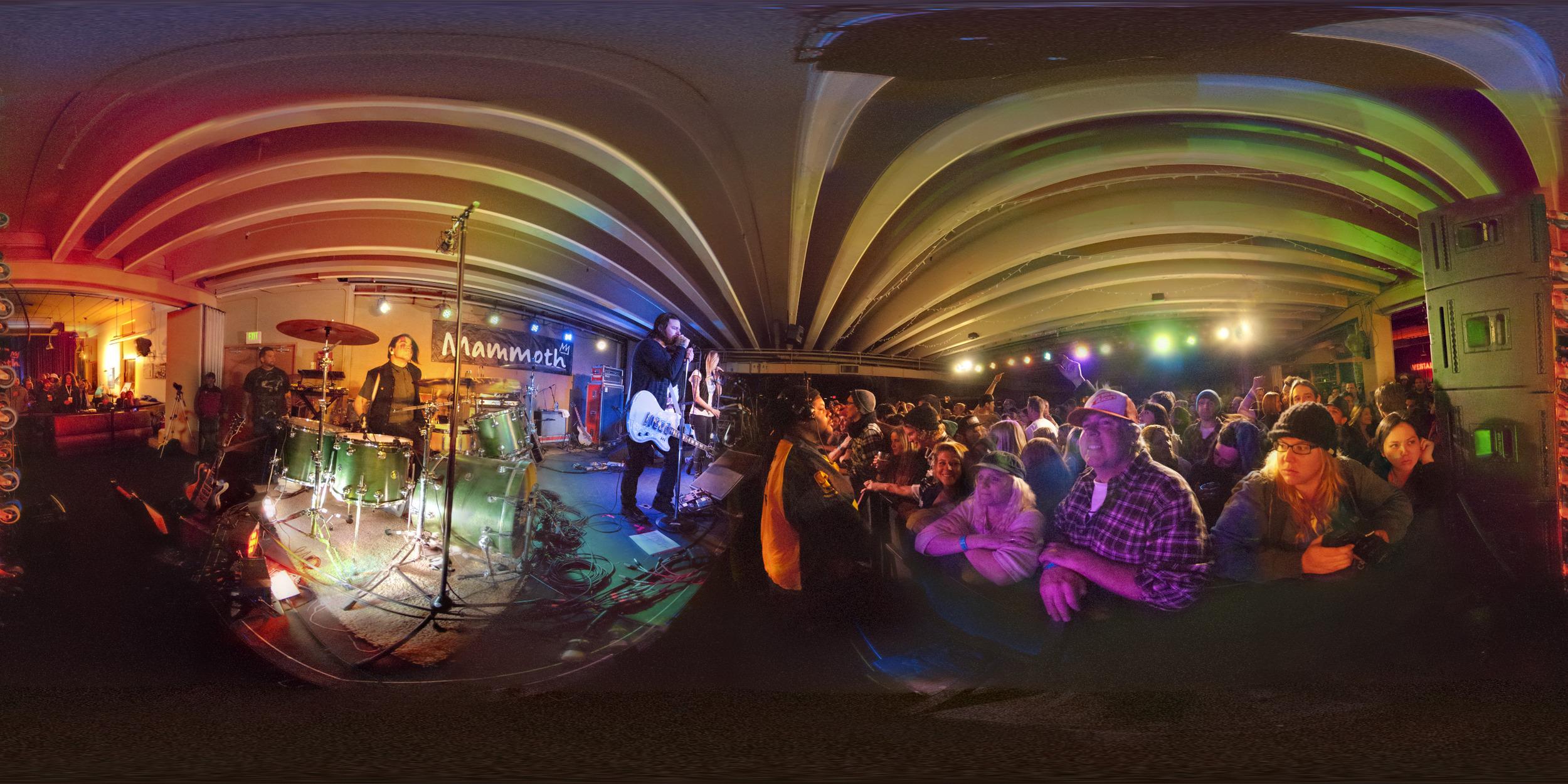 Low Light 360º Live Music; Shiny Toy Guns at Mammoth Mountain.