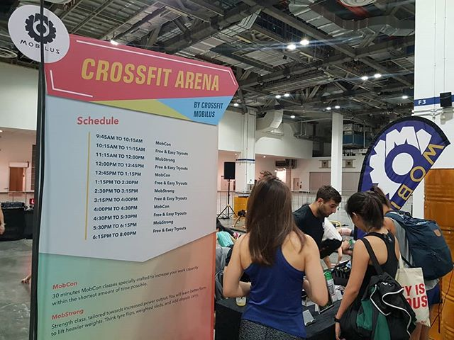 Only a few slots left! MobStrong and MobCon almost sold out at @fitnessfest.sg  #mobilusxfitnessfestsg #crossfitmobilus #wearemobilus #fitnessfestsg #MobStrong