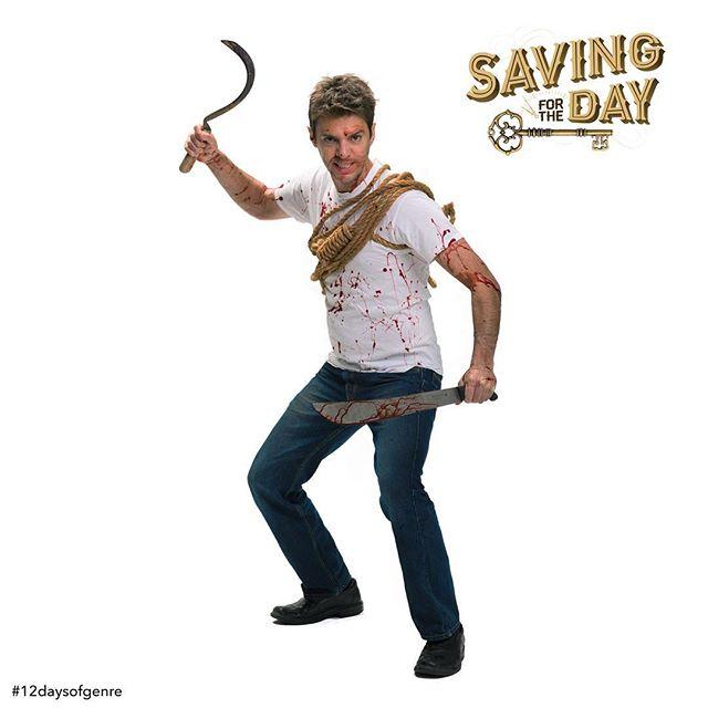 """On the ninth day of genre, my true love gave to me...a bullet to the brain of a raging zombie."" #12daysofgenre #Horror #Zombie #Zombies #ZombieMovie #ZombieKiller #ZombieApocalypse #GeorgeRomero #TomSavini #GregNicotero #RobertRodriguez #NightoftheLivingDead #DawnoftheDead #28daysLater #ShaunoftheDead #SimonPegg #ZombieLand #TheWalkingDead #TWD #WalkingDead #HorrorFan #80sHorror #HorrorMovie #SpecialFX  #IndependentFilm #SavingForTheDay #SFTD #Missoula #Montana #MissoulaMovie  Watch Joe fend off the horde (clickable link in bio): MissoulaMovie.com . 📷: @athenaphotography"