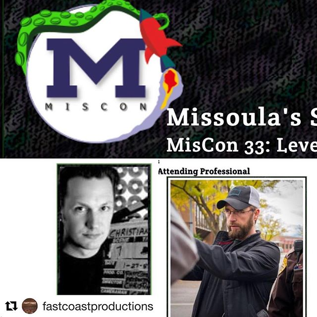 We've got filmmaking panels with one of our favorite collaborators @fastcoastproductions at @miscon_mt . We'll also be showing a clip from @savingfortheday Stop by and get nerdy! . #Repost @fastcoastproductions ・・・ My friend John @johndnilles @withacauseproductions and I @fastcoastproductions @fastcoastfilmacademy will be at MisCon33 @miscon_mt this month talking about making movies! See you tharrrrrrrr!