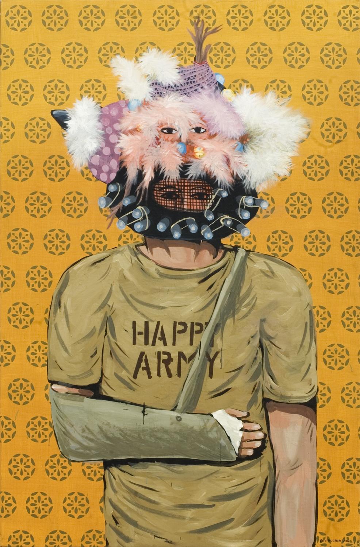 Eko Nugroho   Happy Army , 2011 acrylic on canvas 59.06 x 39.37 inches 150 x 100 cm