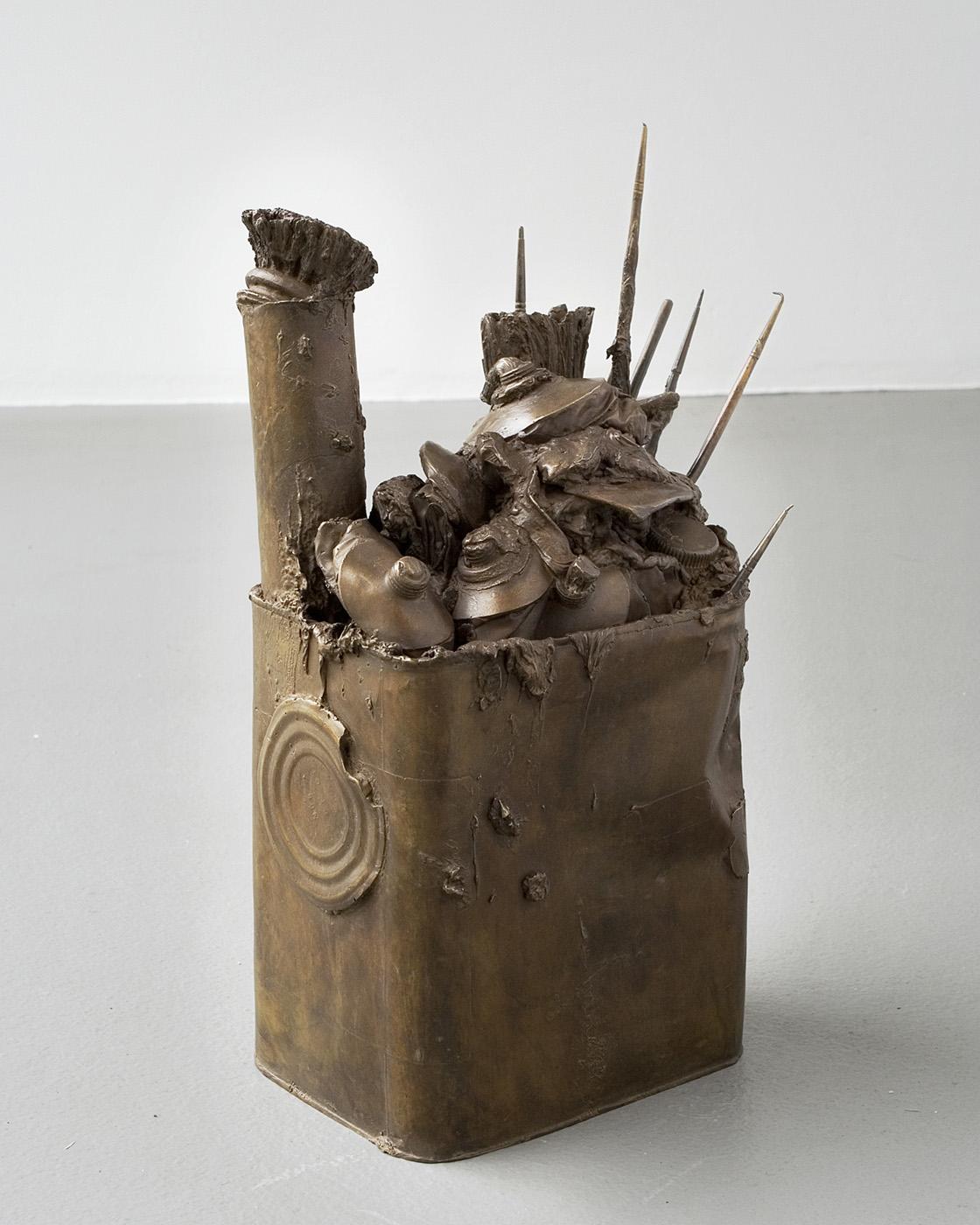 Ulrich Lamsfuss   ohne Titel (Spaltprodukt 4) , 2008 Bronze, artist's tools 13.58 x 8.86 x 5.31 inches (approx.) 34.5 x 22.5 x 13.5 cm