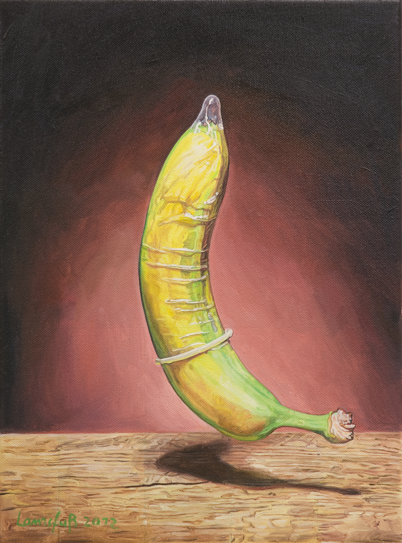 Ulrich Lamsfuss   Anthony Bradshaw, Banana (getty im. #105065566)  , 2012   oil on canvas   13.78 x 10.24 inches   35 x 26 cm
