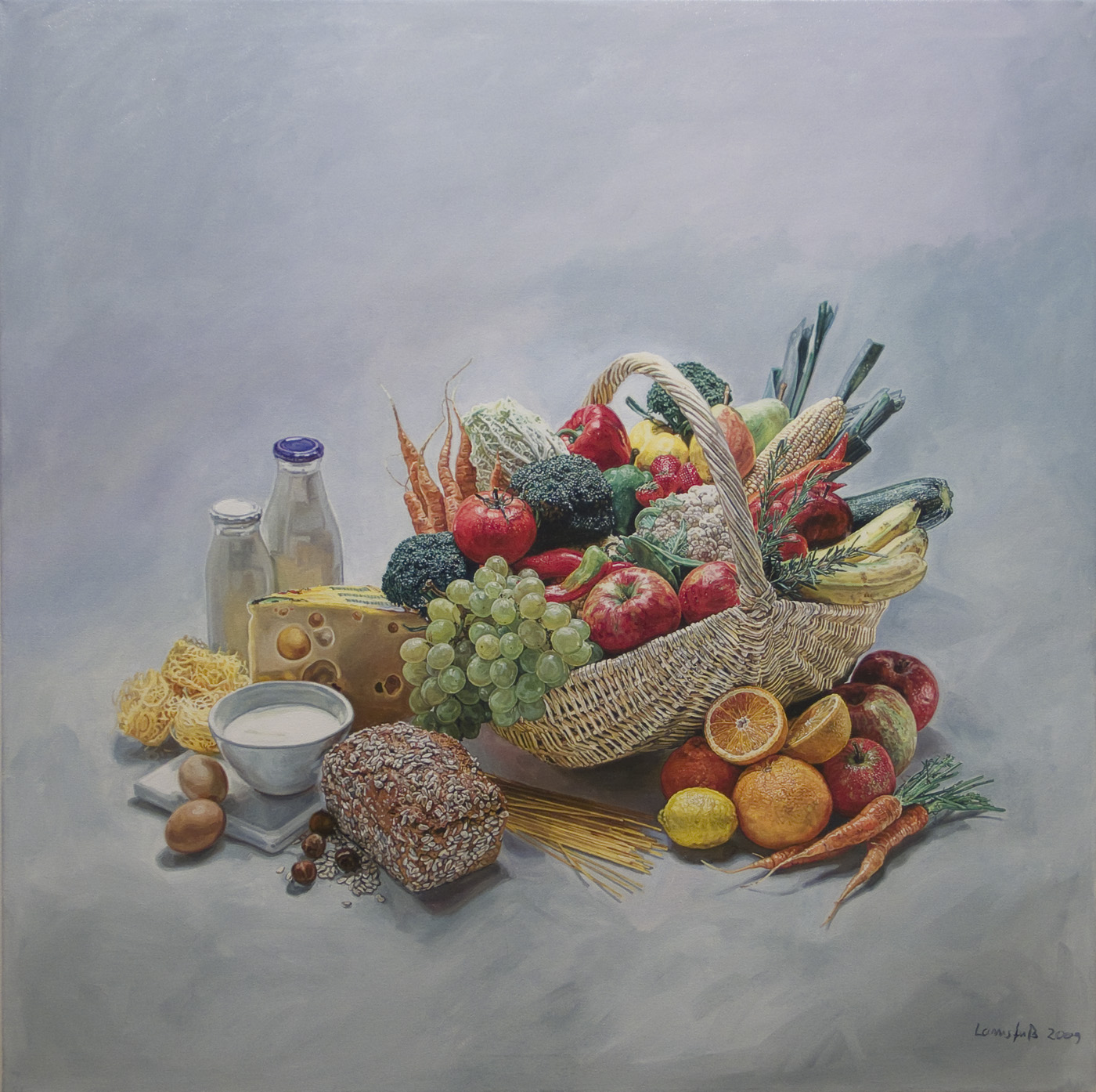 Ulrich Lamsfuss   Stockfood 15891 , 2009 oil on canvas 43.31 x 43.31 inches 110 x 110 cm