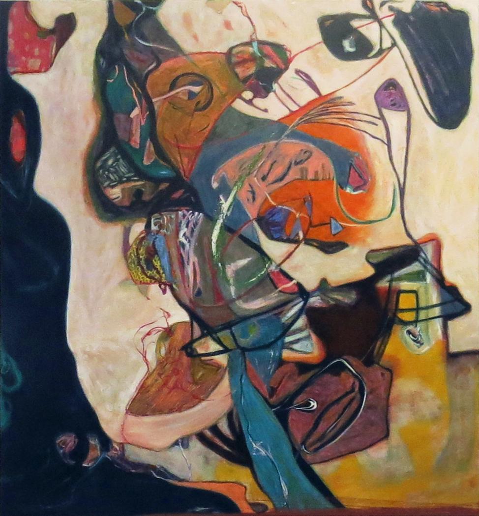 Sarah Dwyer   E.V.E wife of T.S.E  , 2014 oil on linen 80.31 x 72.83 inches 204 x 185 cm