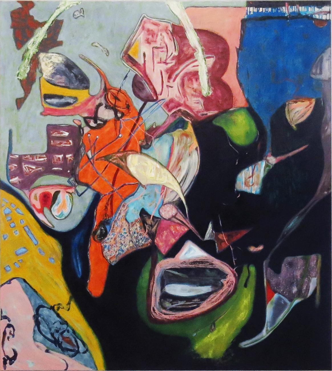 Sarah Dwyer   Marmion , 2014 oil on linen 80.31 x 72.83 inches 204 x 185 cm