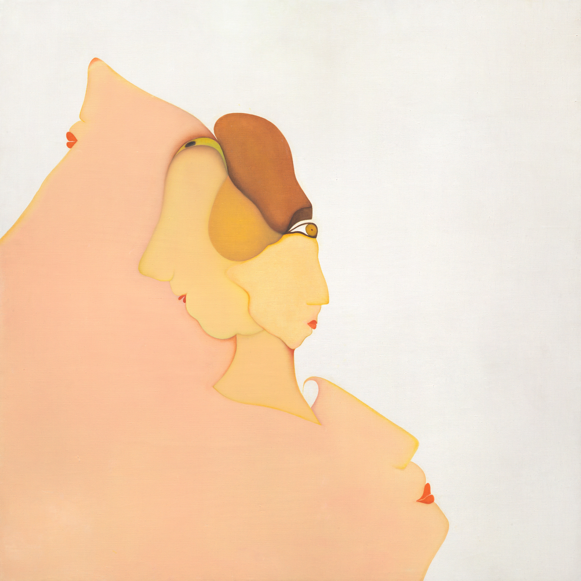 Huguette Caland   Eux , 1978 oil on linen 39.5 x 39.5 inches 100.3 x 100.3 cm