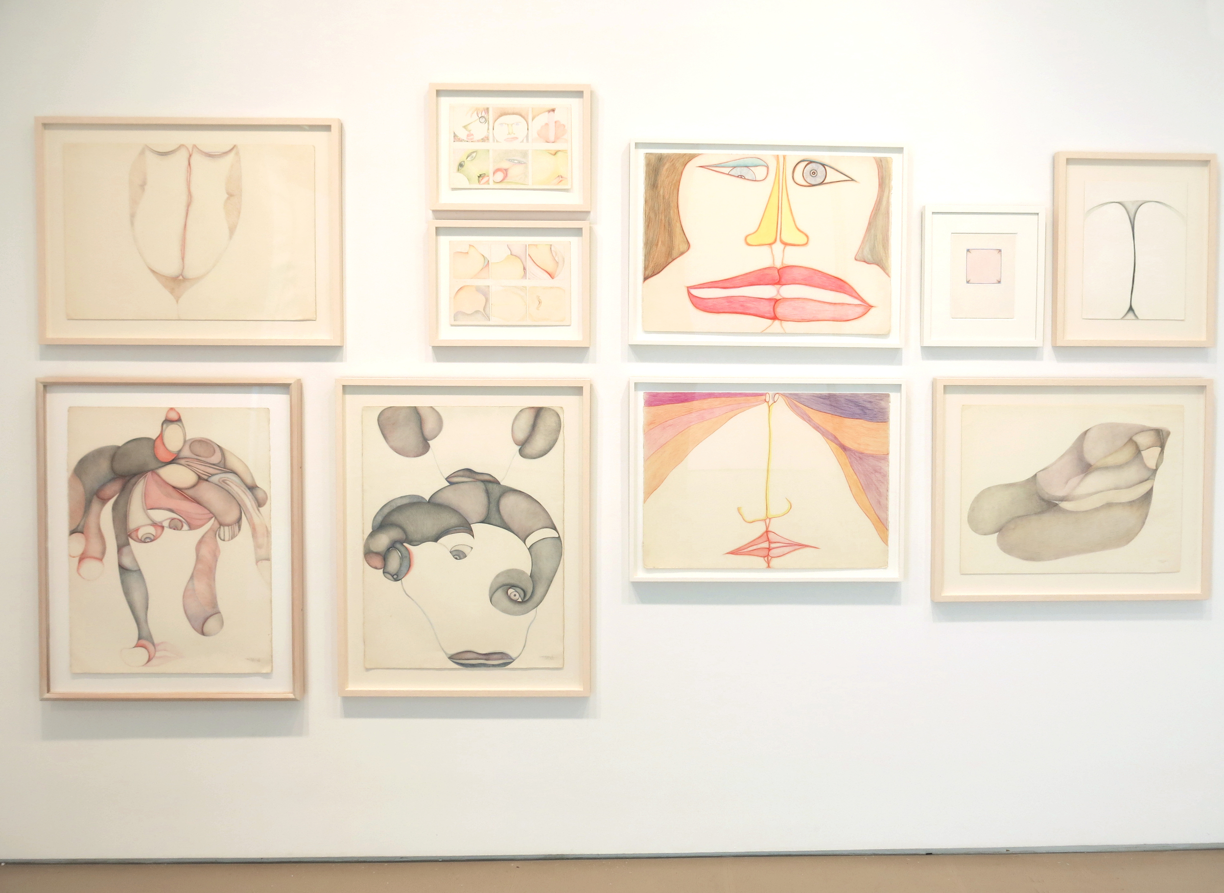 Huguette Caland   Early Works: 1970-85 , 2014 Installation at Lombard Freid Gallery