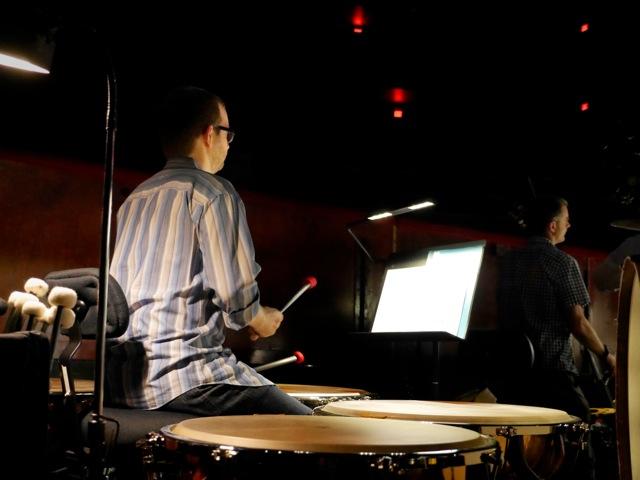Principal Timpanist Jason Haaheim in rehearsal
