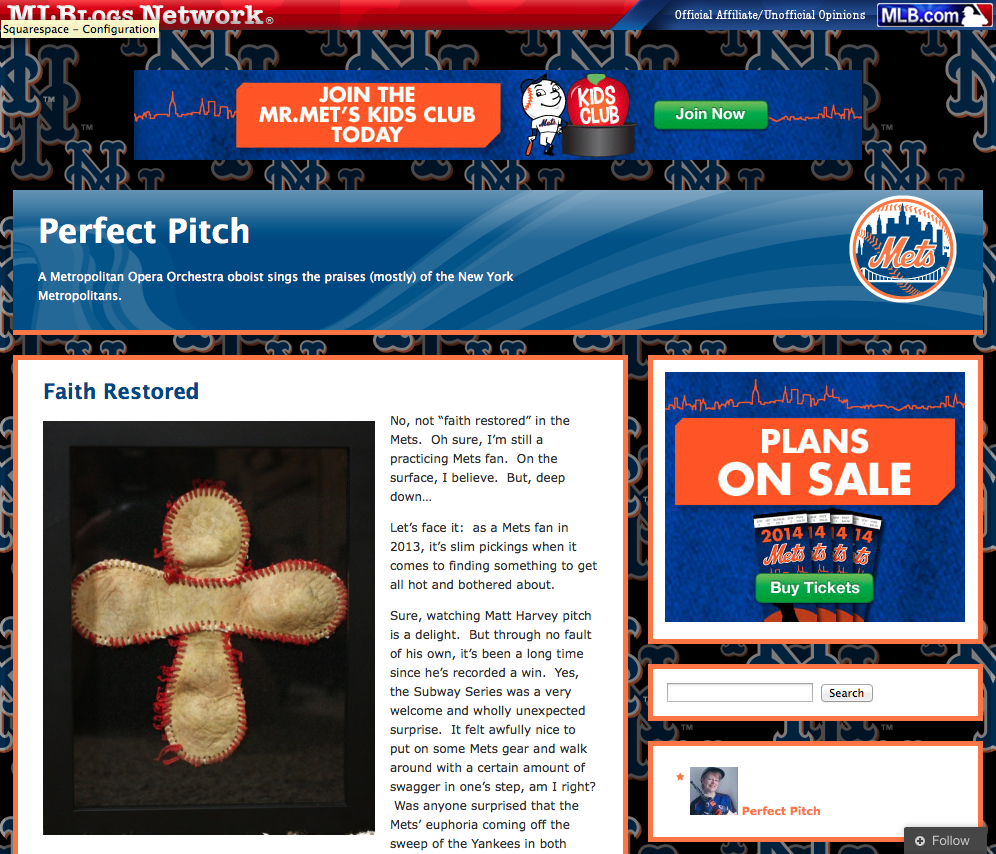 Perfect Pitch , Susan Spector's Mets Blog