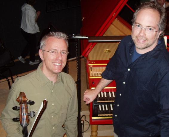 David with harpsichordist Kevin Murphy in Kobe, Japan (June 2006)
