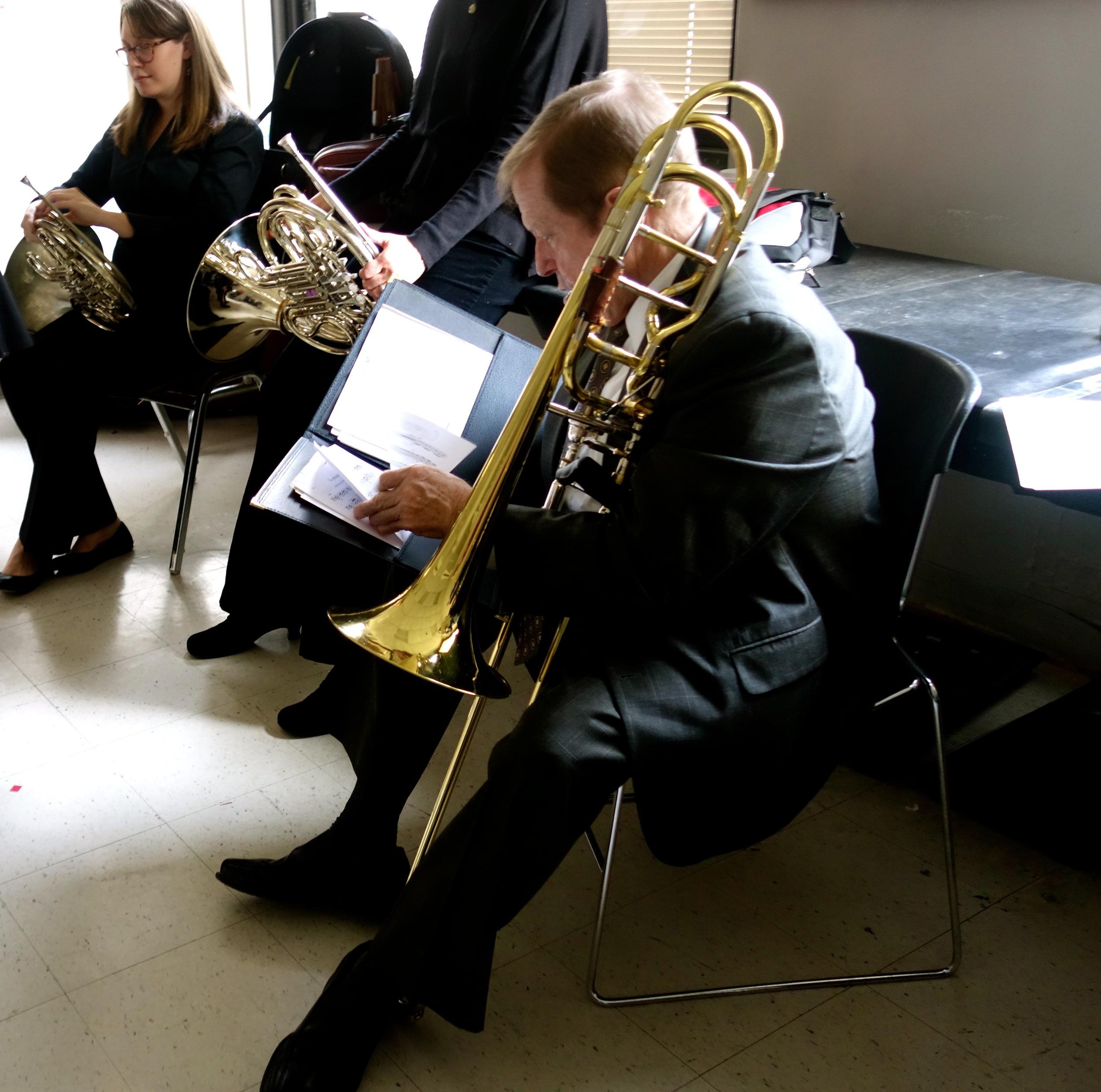 Steve Norrell studies his music.
