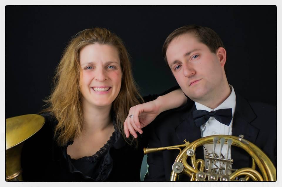 Brad Gemeinhardt with fellow MET Orchestra hornist Barbara Jöstlein Currie