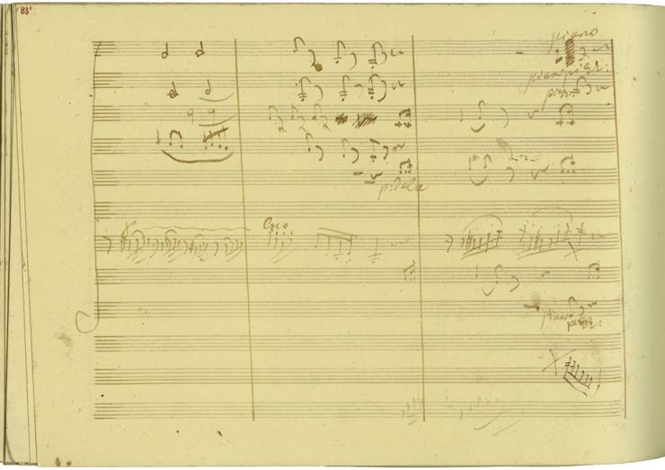 The manuscript ofBeethoven's Violin Concerto