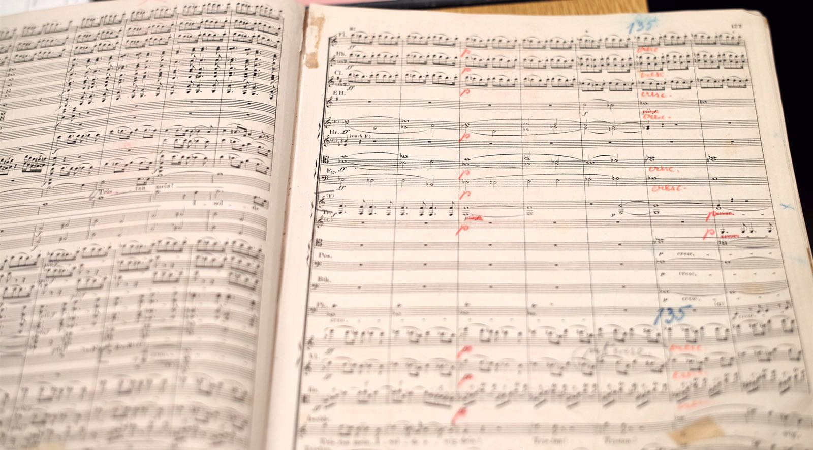 """""""The conducting score Maestro Rattle took out for several days to study, which is owned by the Vienna State Opera, was not only used by Mahler, but was in use afterwards for another 50 years by many other conductors as well."""" - DF"""