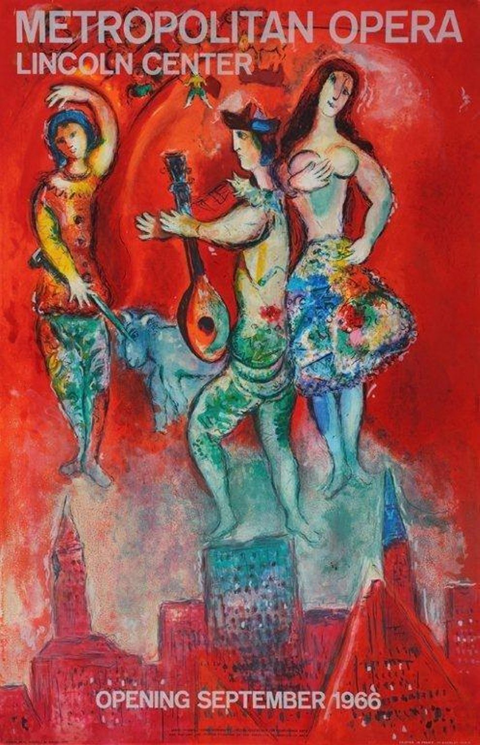 Carmen, 1966: Marc Chagall's promotional poster for the opening of the new home of the Metropolitan Opera.