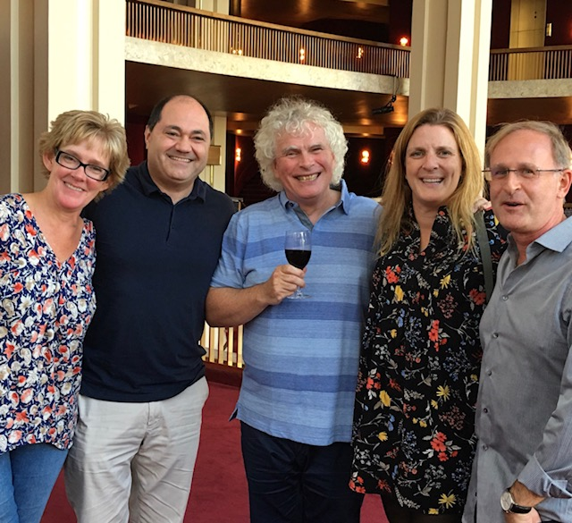(L-R) Michelle Baker, Javier Gándara, Sir Simon Rattle, Barbara Jöstlein Currie, and Erik Ralske