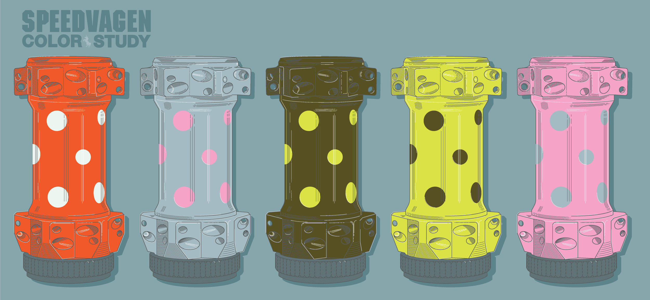 Speedvagen 2017 Colors: Vermillion, Slate, Army, Citron, Pink