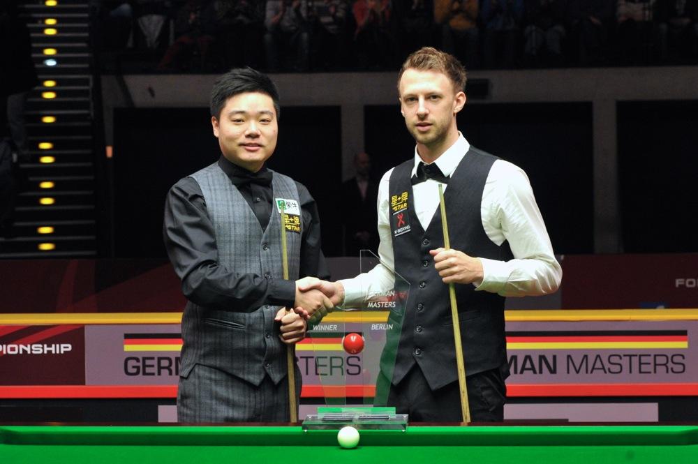 Ding Junhui beat Judd Trump to win the 2014 German Masters
