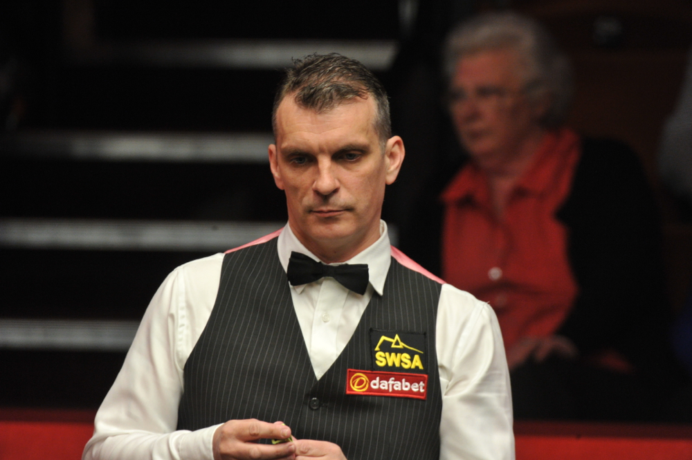 Mark Davis: faces Ronnie O'Sullivan in last 32 of the German Masters