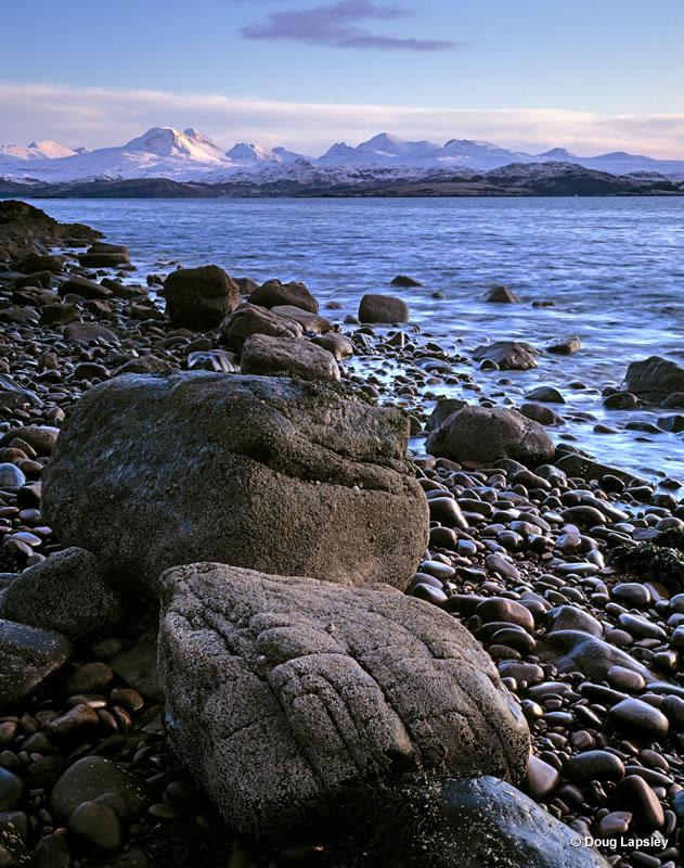 Rocks and Torridon from Loch Gairloch