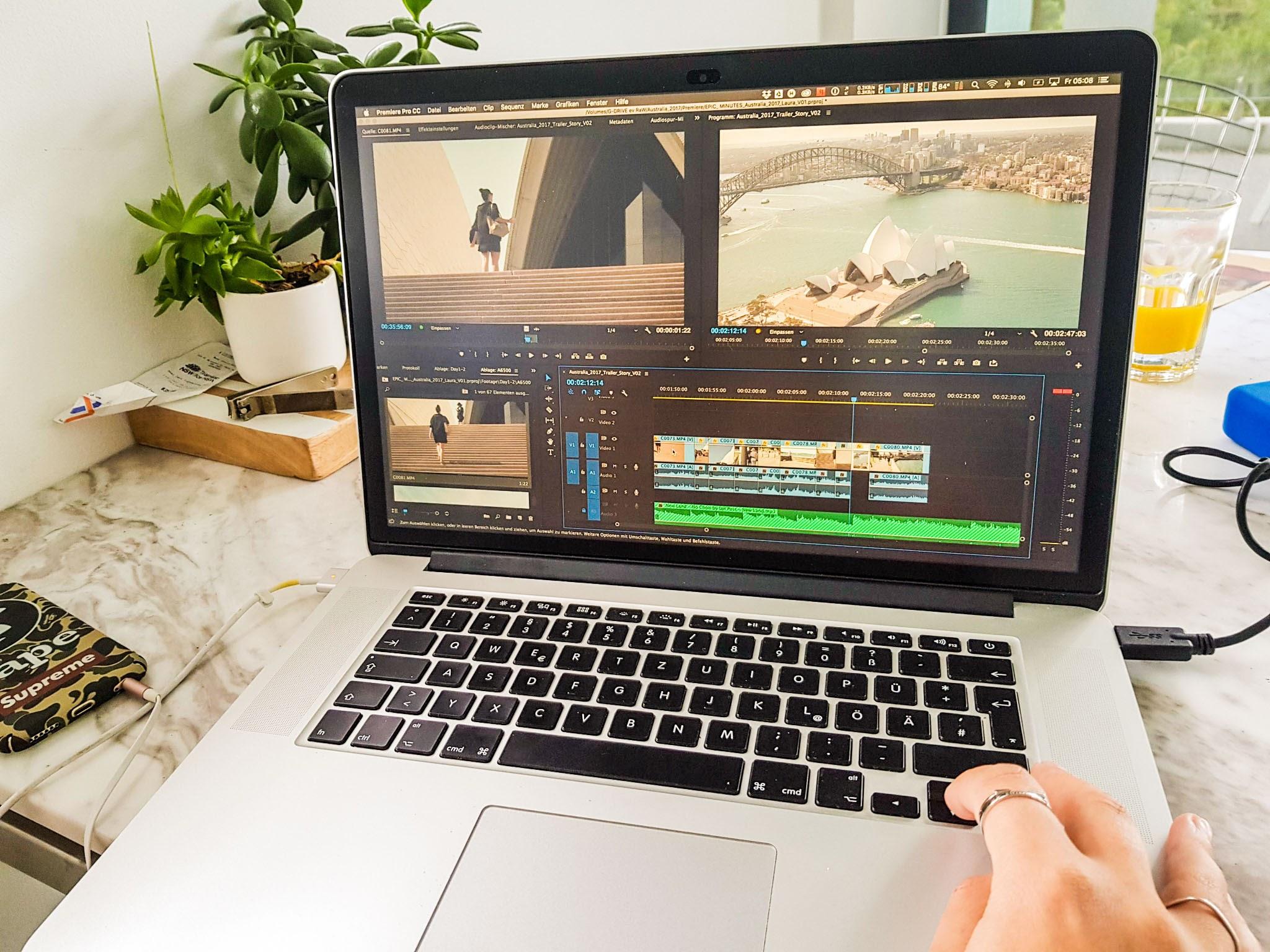 1 steps in editting in Adobe Premiere CC