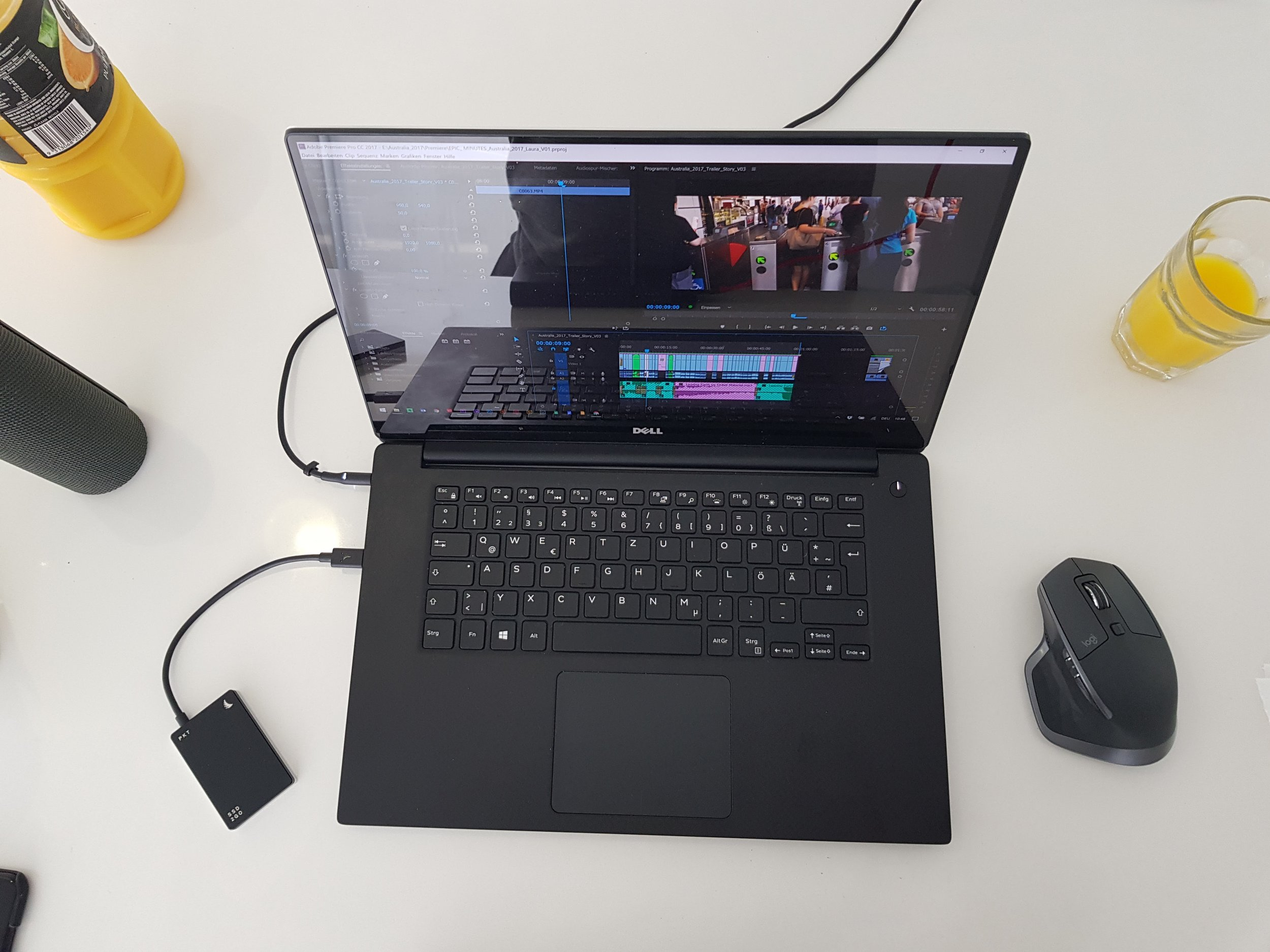 Mobile Editing Station - Dell XPS & Angelbird SSD for fast support