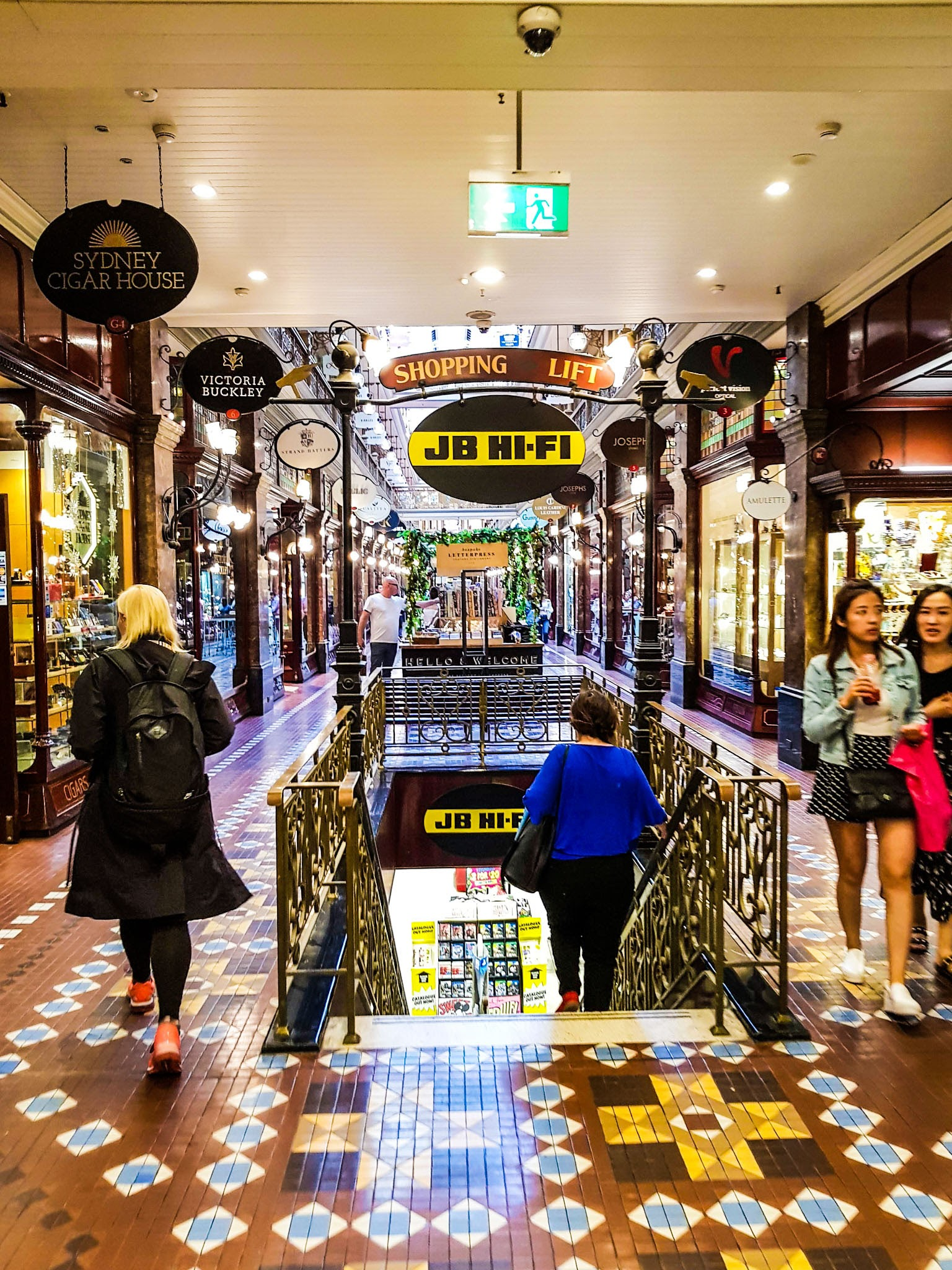 Victorian-style shopping arcade.  The Strand Arcade, Sydney