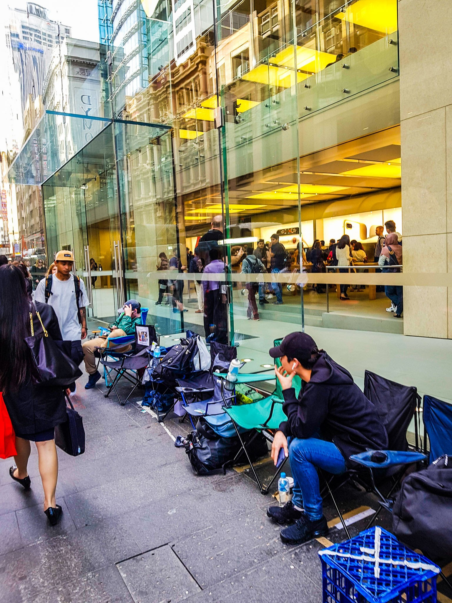 People waiting for the iPhone X.  Apple Store CBD, Sydney