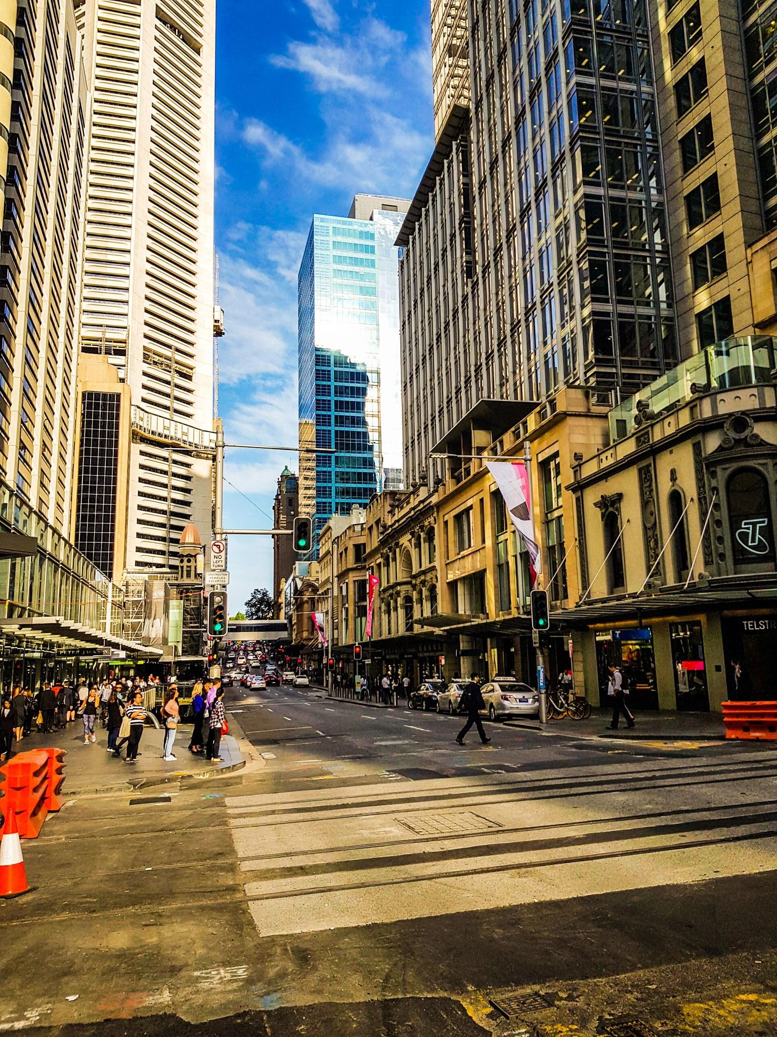 Walking trough the streets.  CBD, Sydney