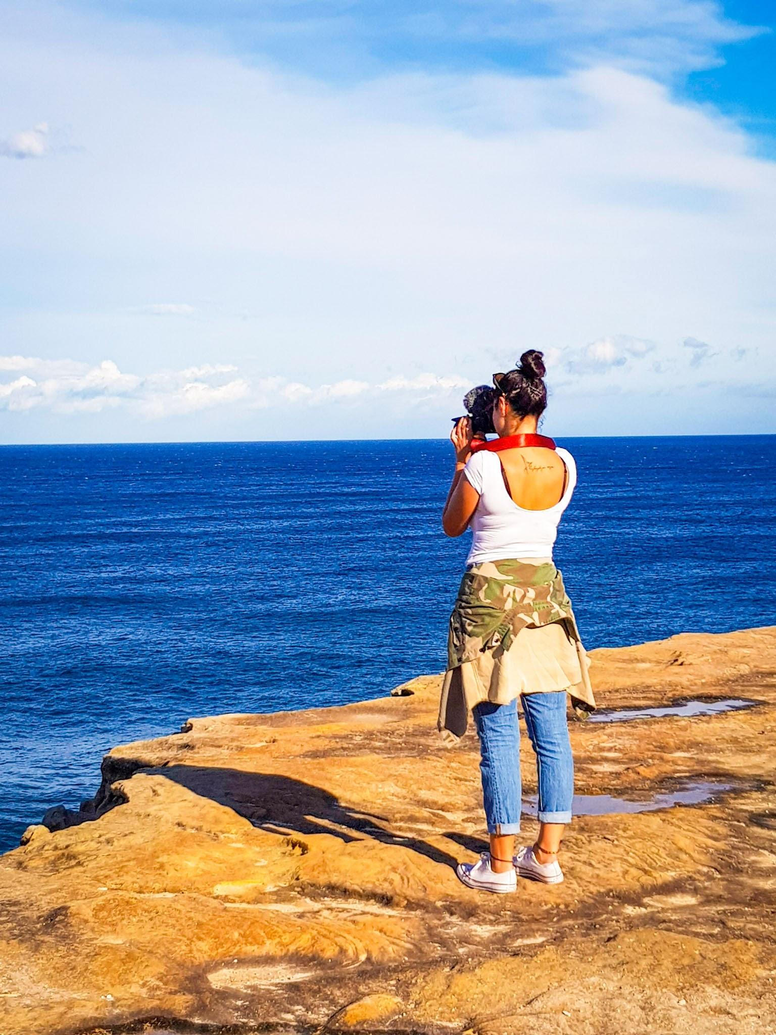 On the rocks  Bronte Beach, Sydney