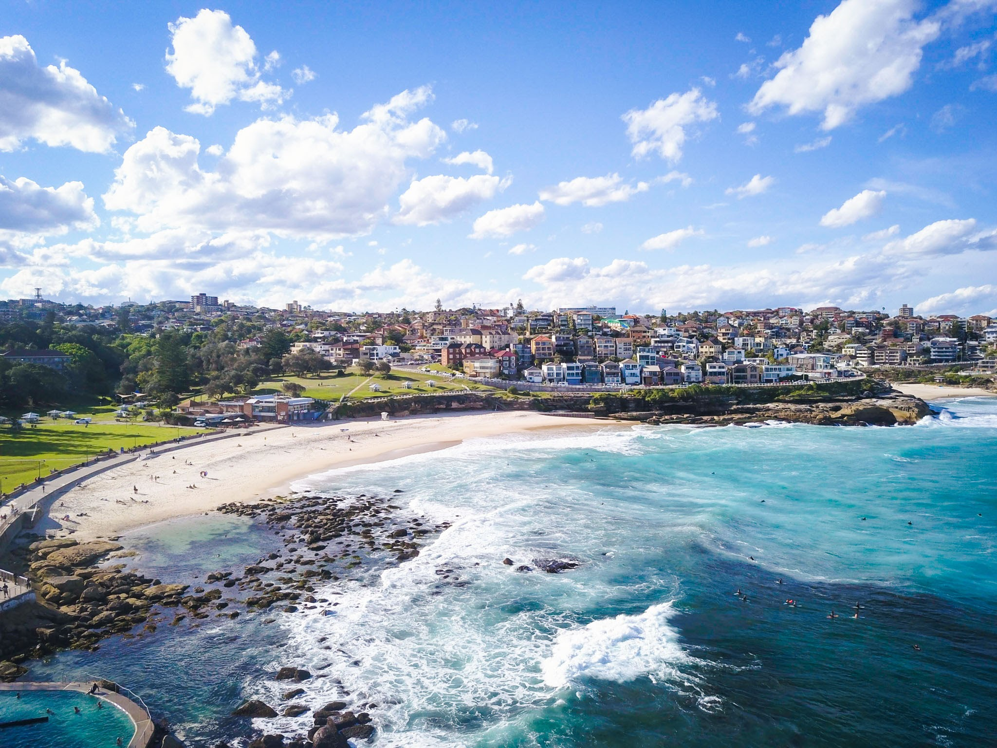 View from the rocks next to  Bronte Beach, Sydney