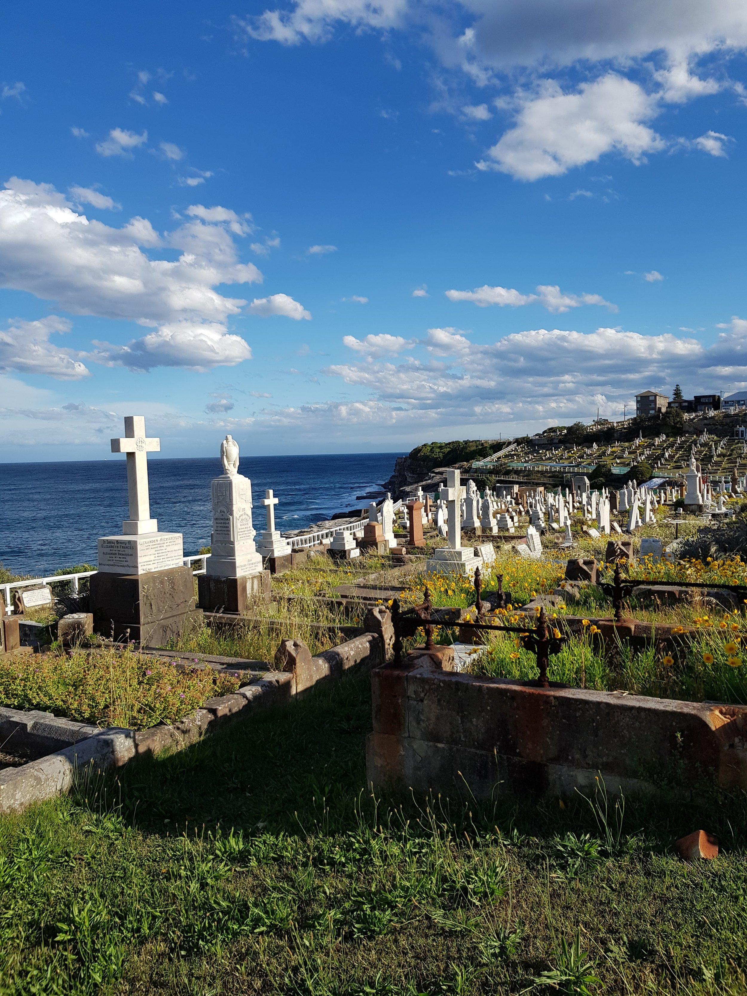 Waverley graveyard  between Bronte Beach & Clovelly, Sydney