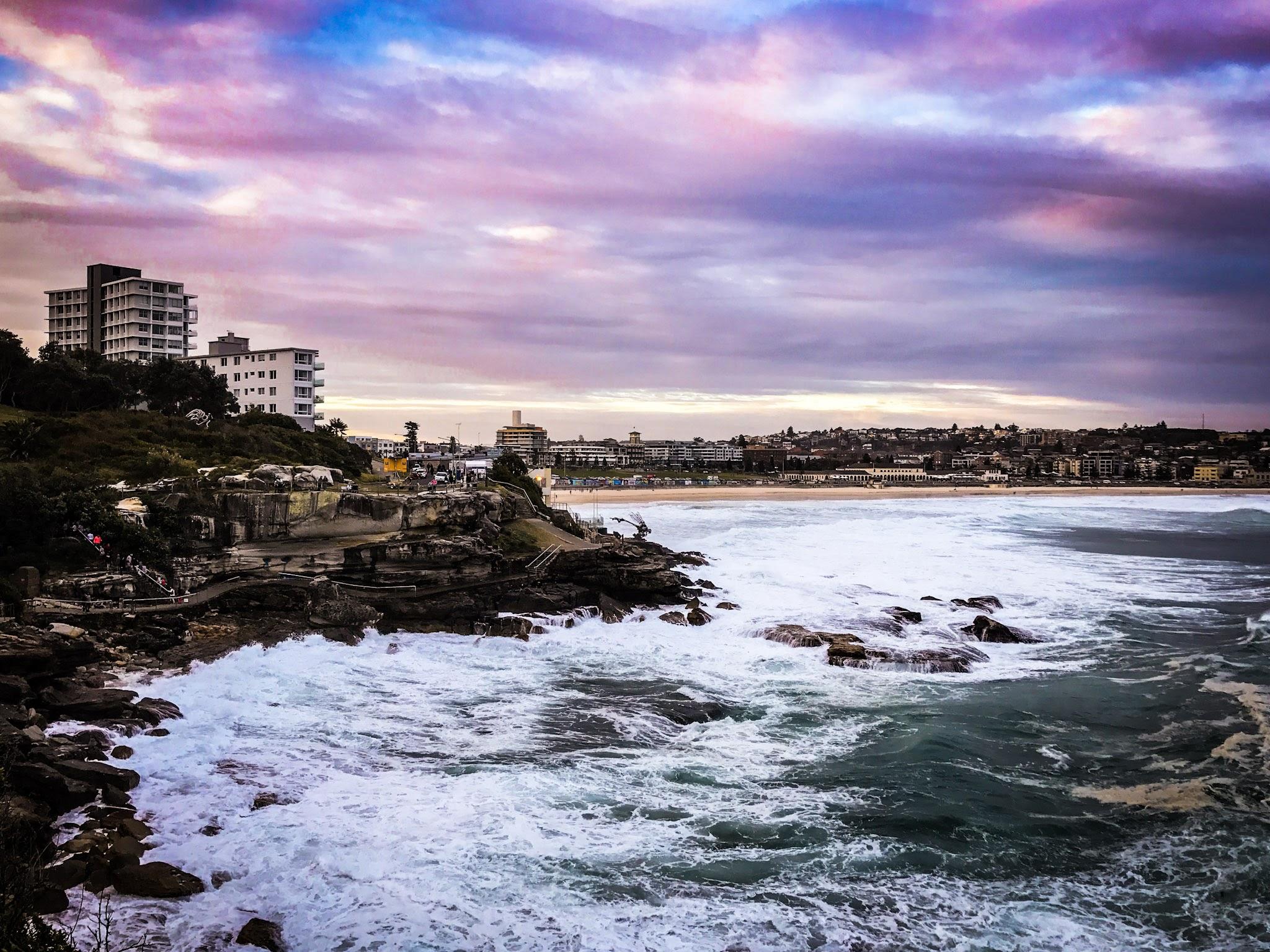 Bondi sunsets.  Bondi to Coogee Coastal walk, Sydney