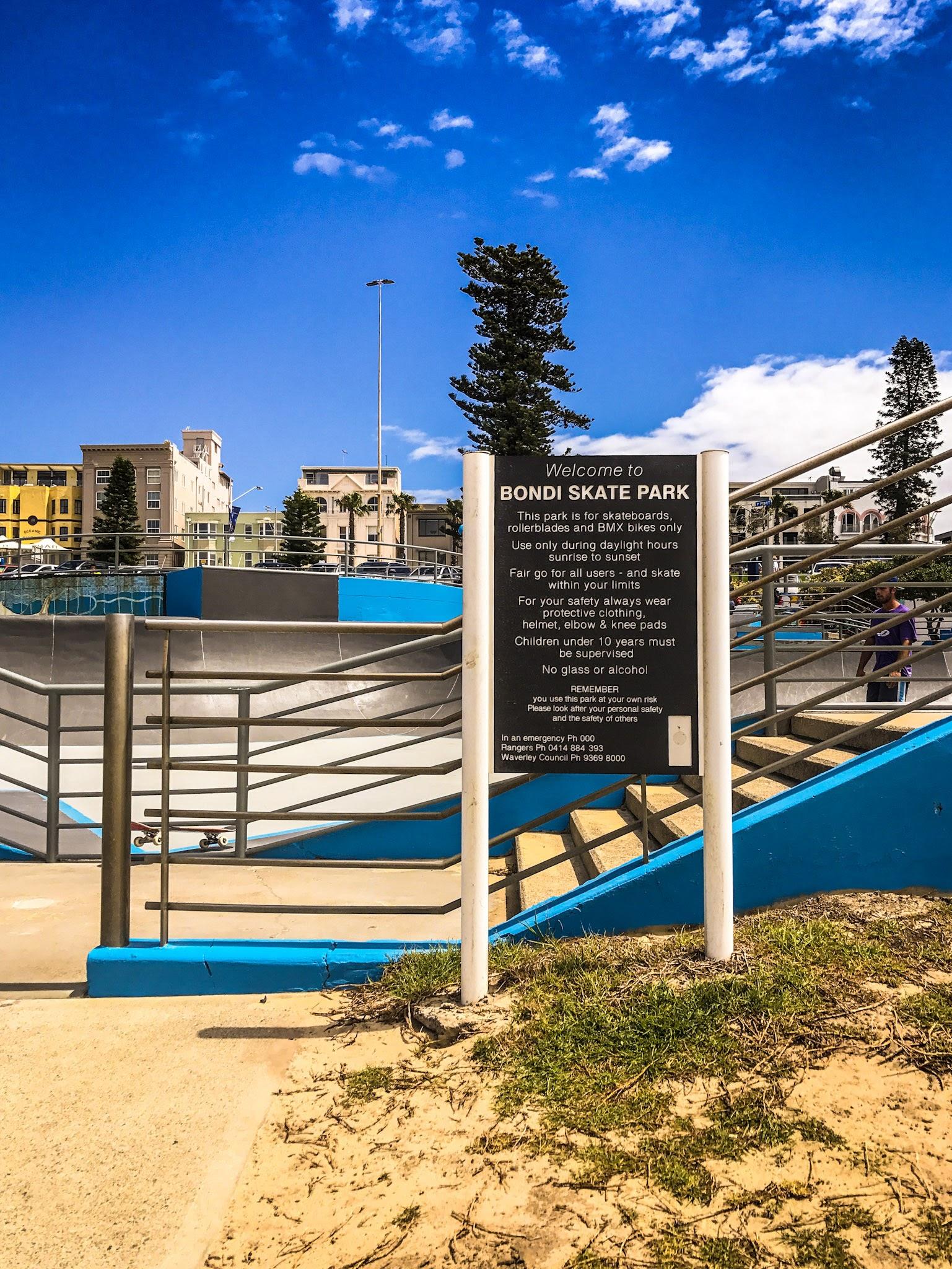 Skaters welcome!  Skate Park Bondi Beach, Sydney