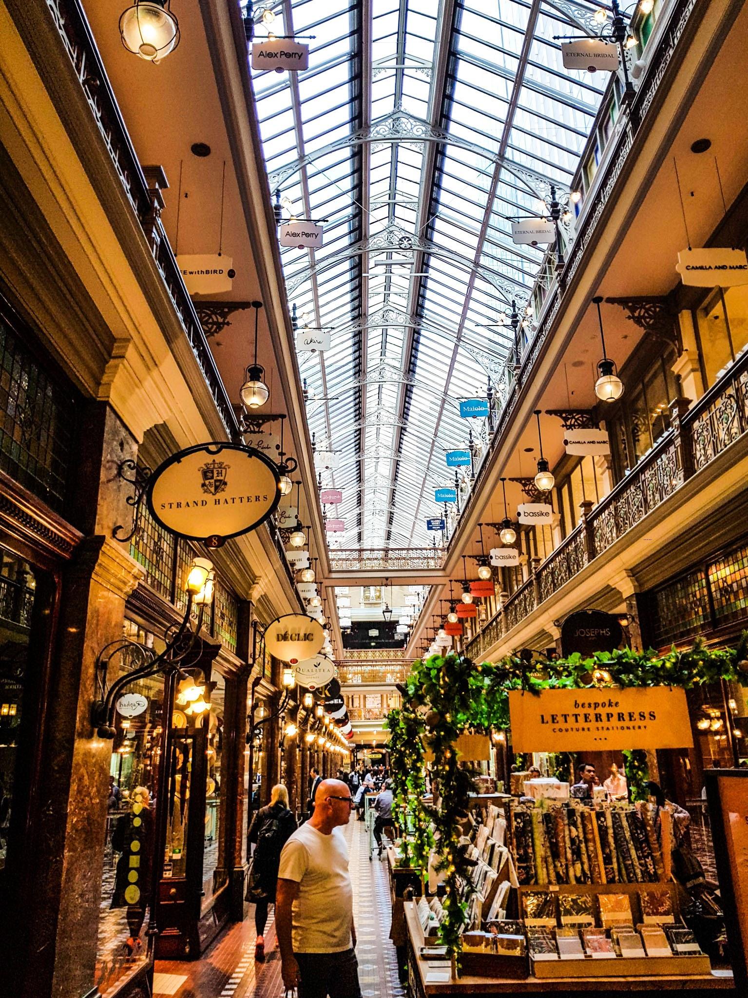 A little bit shopping?  The Strand Arcade, Sydney